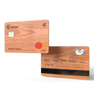 TreeCard : une nouvelle carte de débit écologique en bois (i)